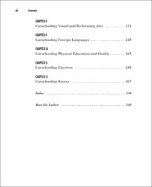 Carschooling -- Table of Contents page 2